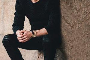 El color negro en la moda masculina